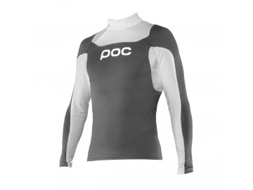 poc poc layer junior cut suit top steel grey hydro
